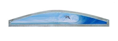 Porpoise over the door topper Dolphin original marine life nautical decor art