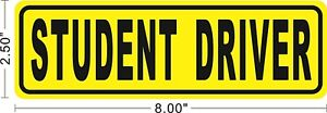 Student Driver Removable Sticker Decal Safety Car Sign Safe Drive Teen ~A034