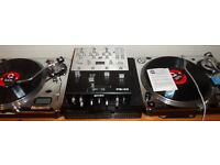 2x Numark TT-2 pro Direct drive limited Ed Chrome, Gemini 3 channel mixer, Torq Digital Vinyl System