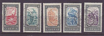 Liberia # F30-34 Complete 1924 Ship Set