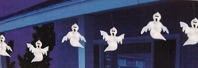 HALLOWEEN HAUNTED HOUSE LIGHTED FLASHING FLOATING GHOST FIGURE LIGHT STRAND SET (Floating Ghost)