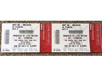 2 x U2 Tickets for Sunday July 9th 2017 at Twickenham, London