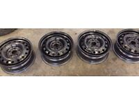 "16"" Black steel wheels 5x112 - £60"