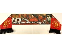 Man Utd Rare Football Scarf Ruud van Nistelrooy