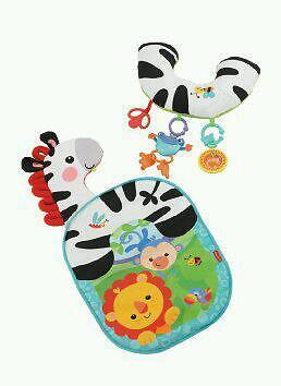 Fisher Price Zebra Cozy Fit Tummy Wedge Play Mat In