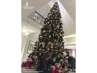 Very Large Christmas Tree with Decorations