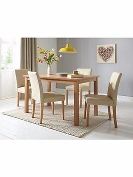 walnut dining table and cream leather chairs ekenasfiber rh ekenasfiber johnhenriksson se