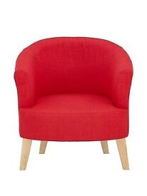 Ora Tub Fabric Accent Chair in Red