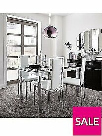 Glide set of 4/Set of 6 Atlantic Chairs - Clear (Brand New)