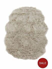 Brand New Faux fur rug - Grey