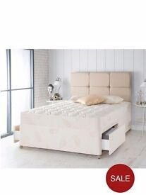 SMALL double divan base and headboard