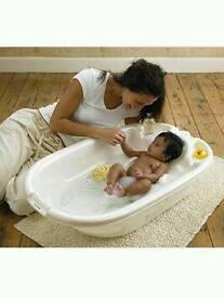 Aqua Bambino Two Stage Bath - Pearl White