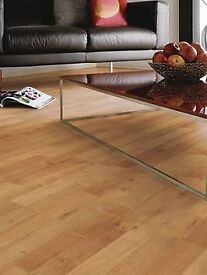 X13 PACKS 3 STRIP OAK 6MM LAMINATE FLOORING + UNDERLAY + BEEDING
