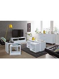 Echo Gloss Coffee Table with Pull-Out Side Tables ( Flat Pack )