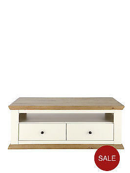 Cream And Oak Tv Stand/coffee Table
