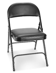 2 FOLDING CHAIRS - BLACK (FREE DELIVERY)