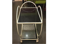 Glass tea trolley brand new