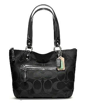 Brand New & Authentic - Coach Poppy Signature Sateen Small Tote (#23522)