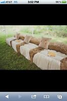 ANYONE USING STRAW/HAY BALES FOR SEATING?