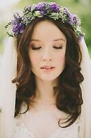 Bridal Hair and makeup artist working together for your wedding!