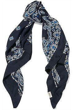 Lost blue paisley Saint Laurent scarf