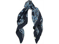 Lost blue paisley Saint Laurent scarf