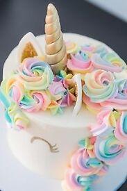 Unicorn cupcakes and cakes