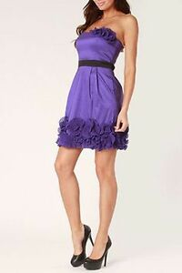CHRISTINE - Purple Taffeta Occasion Dress