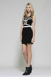 Gentle Fawn Black and White Dress