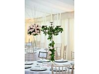 Wedding/ Party decoration package deal- Chair covers, sashes, centrepiece, backdrop, LOVE sign