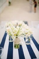 Navy Striped Table Runners for Rent - $3.75