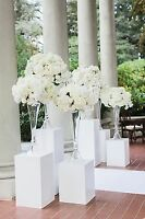 Wedding pedestals decor for rent at discount prices