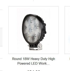 Use 18W Heavy Duty LED