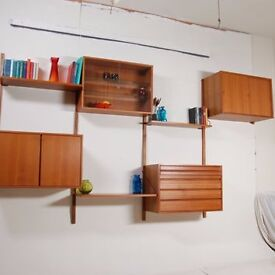 1960s Mid Century Danish Royal Modular Wall System by Poul Cadovius for Cado. Vintage/Retro/Shelving
