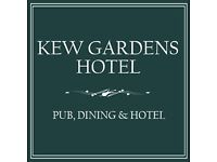 Now hiring experienced waiting staff for boutique hotel, bar and restaurant