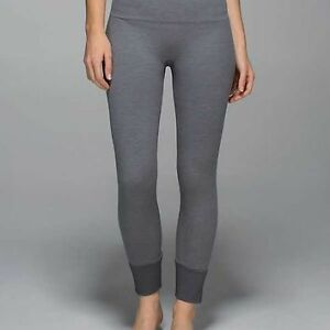Lululemon Ebb To Street 7/8 Pant Size 6 Dark Grey EUC