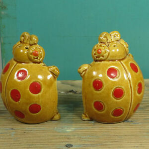 Kitsch ladybug salt and pepper shakers