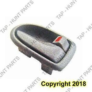 Door Handle Inner Front Passenger Side Gray With Chrome Mazda MPV 2000-2003
