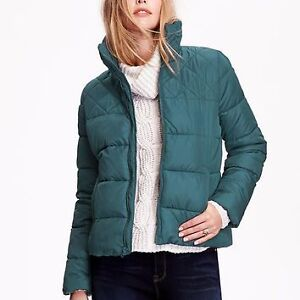 Women's Old Navy green quilted puffy jacket Small NEW