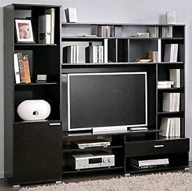 Television Shelves Wall Unit in Grey