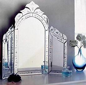 Venetian 3 Section Mirror