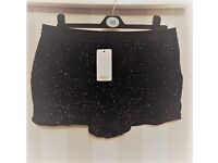 New with tags MANGO glittery shorts