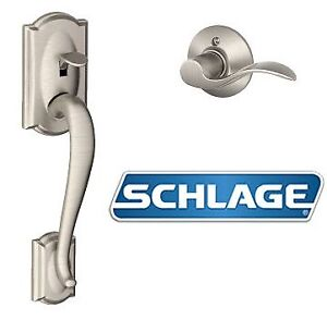 NEW SCHLAGE CAMELOT FRONT ENTRY HANDLESET WITH INTERIOR LEVER LE