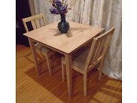 Dining Table Set with 2 Matching Chairs For Sale