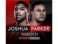 2 x Anthony Joshua vs Joe Parker tickets: Lower Tier 28