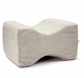 Memory Foam Leg Pillow Orthopaedic Firm Back Hips & Knee Support + Cover