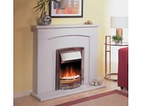 Dimplex ADG20 Silver electric fire with flame effect