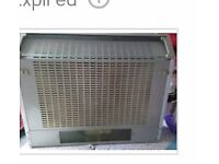 Silver cooker hood with light