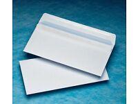 4 boxes of 1000 White DL 110x220mm Envelopes – New