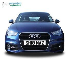 Shehnaz Number Plate, Shehnaz Registration, Shenaz, Sheena, Asian Number Plate, Cherished Reg, Naz